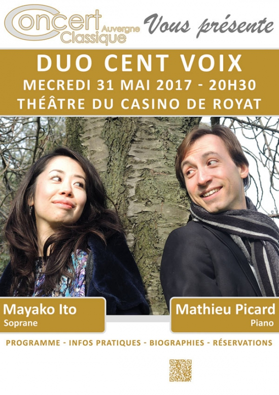 duo cent voix récital casino de royat
